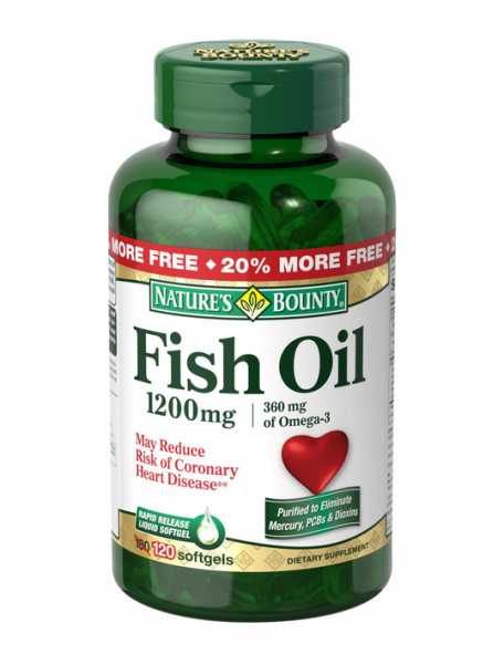 Nature 39 s bounty fish oil 1200 mg softgels 120 ea pharmapacks for Top fish oil brands