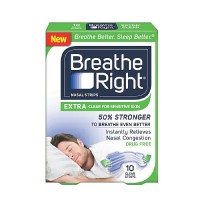 Breathe Right Nasal Strips, Extra Clear for Sensitive Skin 10 ea [757145241859]