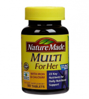 Nature Made Multi For Her with Iron & Calcium 90 ea [031604017910]