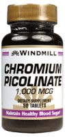 Windmill Chromium Picolinate 1000 mcg 50 ea [035046002053]