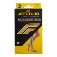 FUTURO Therapeutic Knee Length Stockings Open Toe Firm XLarge Beige 1 Pair [051131215993]