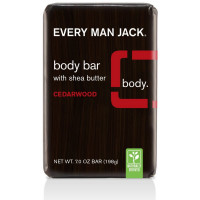 Every Man Jack Body Bar with Shea Butter, Cedarwood 7 oz [878639000117]