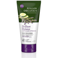 Avalon Organics Brilliant Balance with Lavender & Prebiotics Enzyme Scrub 4 oz [654749353301]
