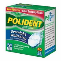 Polident Overnight Whitening, Antibacterial Denture Cleanser, Triple Mint Freshness 40 ea [310158034452]