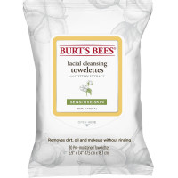 Burt's Bees Sensitive Facial Cleansing Towelettes with Cotton Extract 30 ea [792850016774]