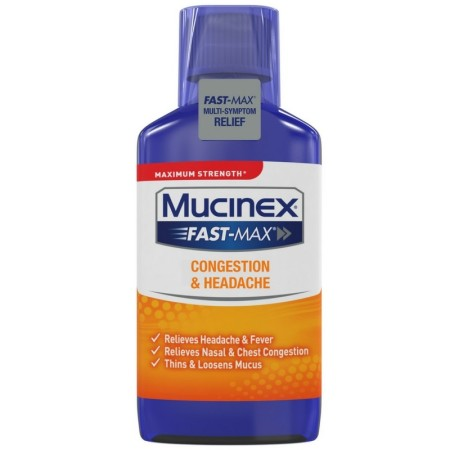 Mucinex Fast-Max Adult Cold and Sinus Liquid, 6 oz [363824016658]