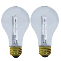 GE Energy-Efficient Crystal Clear 53-Watt, Halogen Light Bulb 2 ea [043168787970]