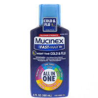 Mucinex Fast-Max Night Time Cold & Flu Liquid 6 oz [363824500669]
