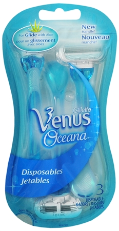 Gillette Venus Disposable Razors Smooth Skin 3 Each [047400313880]