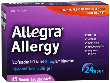 Allegra Allergy Tablets 24 Hour 45 Tablets [041167412749]