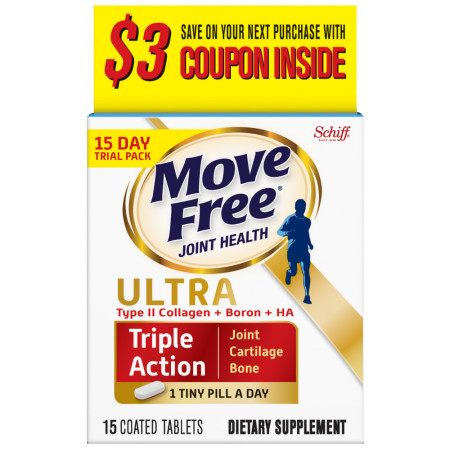 Schiff Move Free Ultra Triple Action Coated Tablets 15 ea [020525941732]