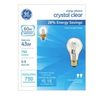 GE Energy-Efficient Crystal Clear 43-Watt, Light Bulb 2 ea [043168787963]