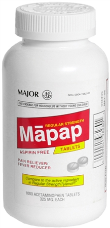 MAJOR Mapap Tablets Regular 1000 Tablets [309041982802]