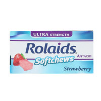 Rolaids Ultra Strength Antacid Softchews, 6 Strawberry Chews (Pack of 12) [041167103241]