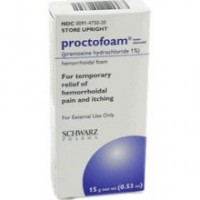 Proctofoam NS Hemorrhoidal Foam 1% 15 gm [368220143151]
