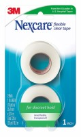 Nexcare First Aid Flexible Clear Tape 1 Inch X 10 Yards, 2ea [051131913820]