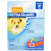 "Hartz Ultraguard Flea & Tick Dog Collar 20"", Red 1 ea [032700915810]"