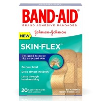 BAND-AID Skin-Flex Adhesive Bandages, Assorted Sizes 20 ea [381371171279]