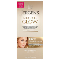 Jergens Glow Face Daily Moisturizer Sunscreen SPF 20, Fair to Medium 2 oz [019100138216]