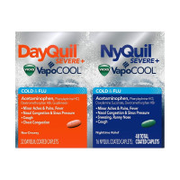 Vicks Dayquil Nyquil Severe Cold & Flu & Nighttime Relief, 48 ea [323900038462]