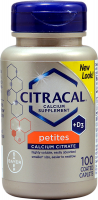 Citracal Petites Tablets With Vitamin D 100 Tablets [016500535027]