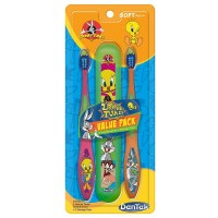 DenTek Looney Tunes Value Pack Soft Toothbrush With Holder 2 ea [047701003480]