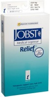 JOBST Medical LegWear Relief Knee High Socks 20-30 mmHg Medium Beige Open-Toe 1 Pair [035664146269]