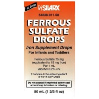 Ferrous Sulphate Iron Supplement Drops for Infants 1.66 oz [354838011500]