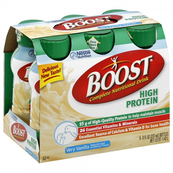 Boost High Protein Nutritional Energy Drink Strawberry 6: BOOST High Protein Nutritional Energy Drinks