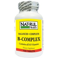Nat-Rul Vitamin B-Complex Tablets 100 ea [094604103205]