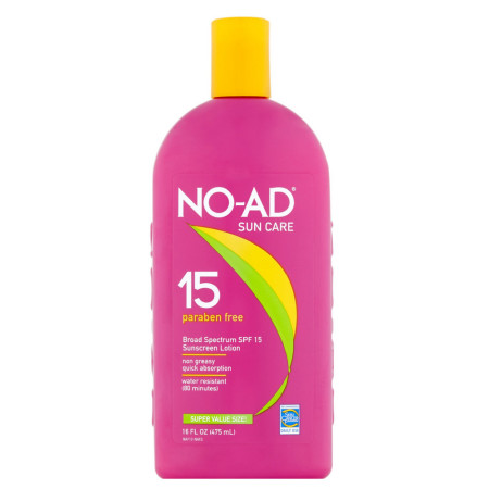 NO-AD Sunscreen Lotion, SPF 15 16 oz [897640002125]