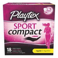 Playtex Sport Regular Absorbency Compact Tampons with Flex-Fit Technology, 18 ea [078300018223]
