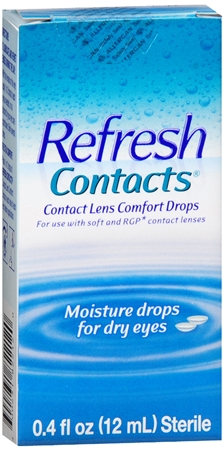 REFRESH Contacts Contact Lens Comfort Moisture Drops 0.40 oz [300231822120]