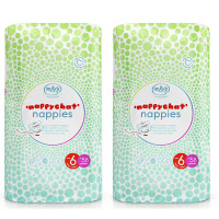 Mum & You Nappychat Eco-Diapers- Size 6, Pack of 2 (58 Count ea) Hypoallergenic, Dermatologically-Tested, and Free-from Lotion, Perfume & Latex
