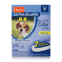 "Hartz Ultraguard Flea & Tick Dog Collar 20"", White 1 ea [032700804848]"