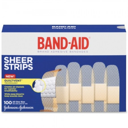 BAND-AID Bandages Comfort Sheer 3/4 Inch 100 Each [381370046349]