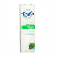 Tom's of Maine Natural Wicked Fresh Fluoride Totohpaste Cool Peppermint 4.70 oz [077326830710]