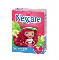 Nexcare Strawberry Shortcake Waterproof Tattoo Bandages 20 ea [051131212756]