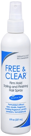 Free & Clear Styling & Finishing Hair Spray Firm Hold 8 oz [345334231080]