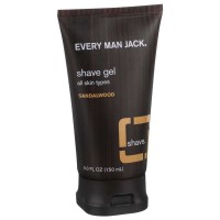Every Man Jack  Shave Gel, Sandalwood 5 oz [878639000483]