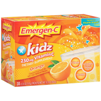 Emergen-C  Kidz Vitamin C Flavored Fizzy Drink Mix, Orange Flavor 30 ea [076314304059]