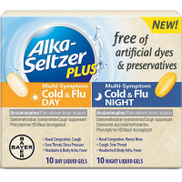 Alka Seltzer Plus Cold & Flu Day & Night Multi-Symptom Liquid Gels 20 ea [016500567721]