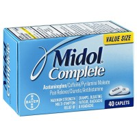 Midol Complete Maximum Strength Pain Reliever Caplets 40 ea [312843555198]