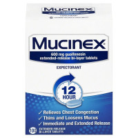Mucinex 12-Hour Chest Congestion Expectorant Tablets, 100 ct [363824008158]