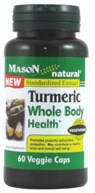 Mason Natural Turmeric Whole Body Health Veggie Caps 60 ea [311845154750]