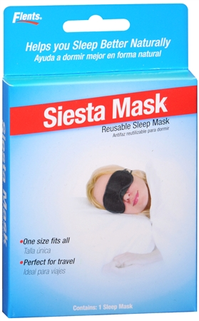 Flents Siesta Mask Reusable Sleep Mask #404 1 Each [023185144048]