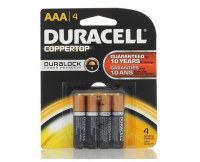 Duracell Coppertop AAA Alkaline Batteries 4 ea [041333424019]
