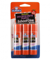 Elmer's Washable Disappearing Purple School Glue Stick .22 oz 3 ea [026000005203]