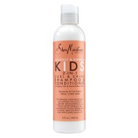 Shea Moisture Kids 2-in-1 Curl & Shine Shampoo & Conditioner, Coconut & Hibiscus 8 oz [764302905141]