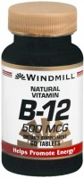 Windmill Vitamin B-12 500 mcg Tablets 60 Tablets [035046001292]